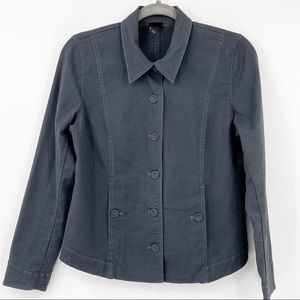 Eileen Fisher Gray Organic Utility  button down Jacket S